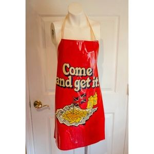 1970's Helenware PVC and Cotton Graphic Apron